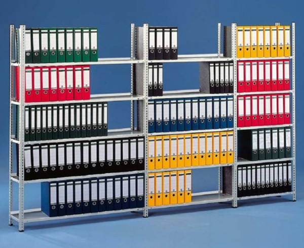 Metalowe regały magazynowe na dokumenty do archiwum